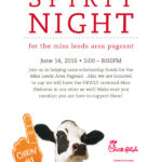 Please be sure to come out and Support Miss Leeds Area Spirit Night at Chick-fil-A this Tues night, June 14, 2016 | 5-8 PM with Miss Alabama, Hayley Barber